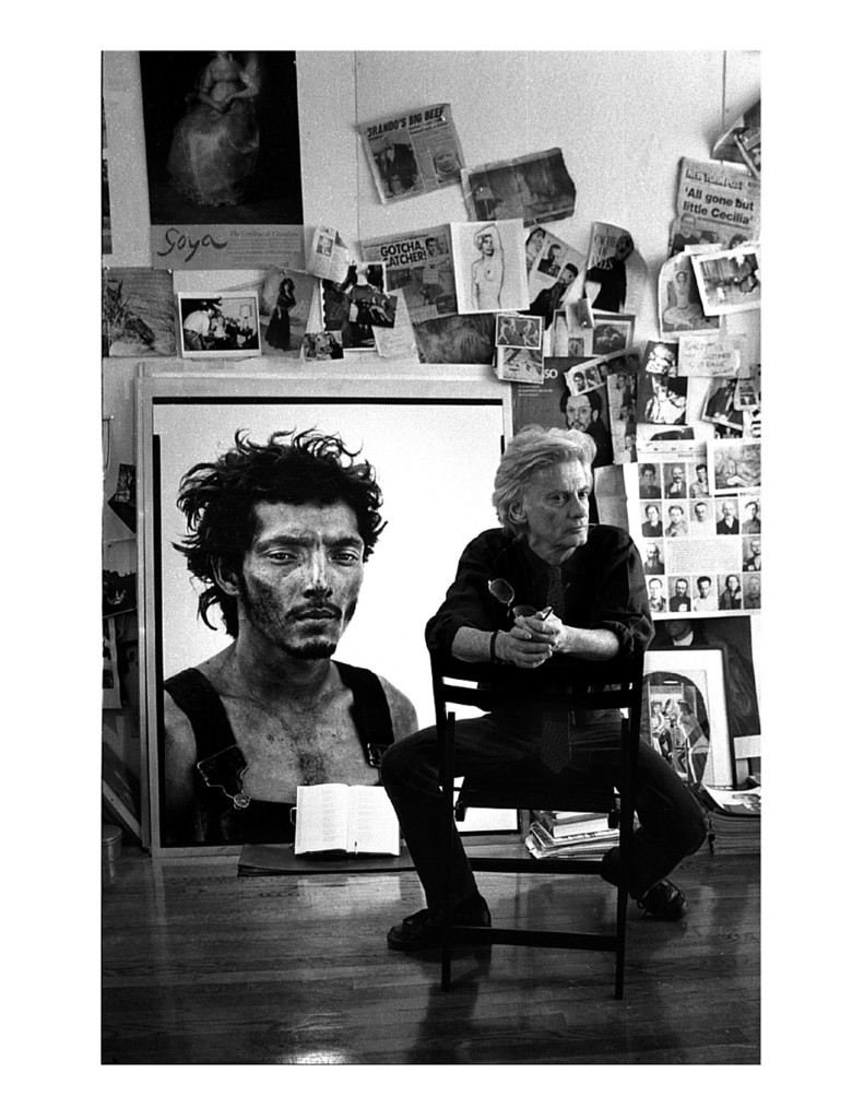 Richard Avedon was photographed by John Loengard in 1994