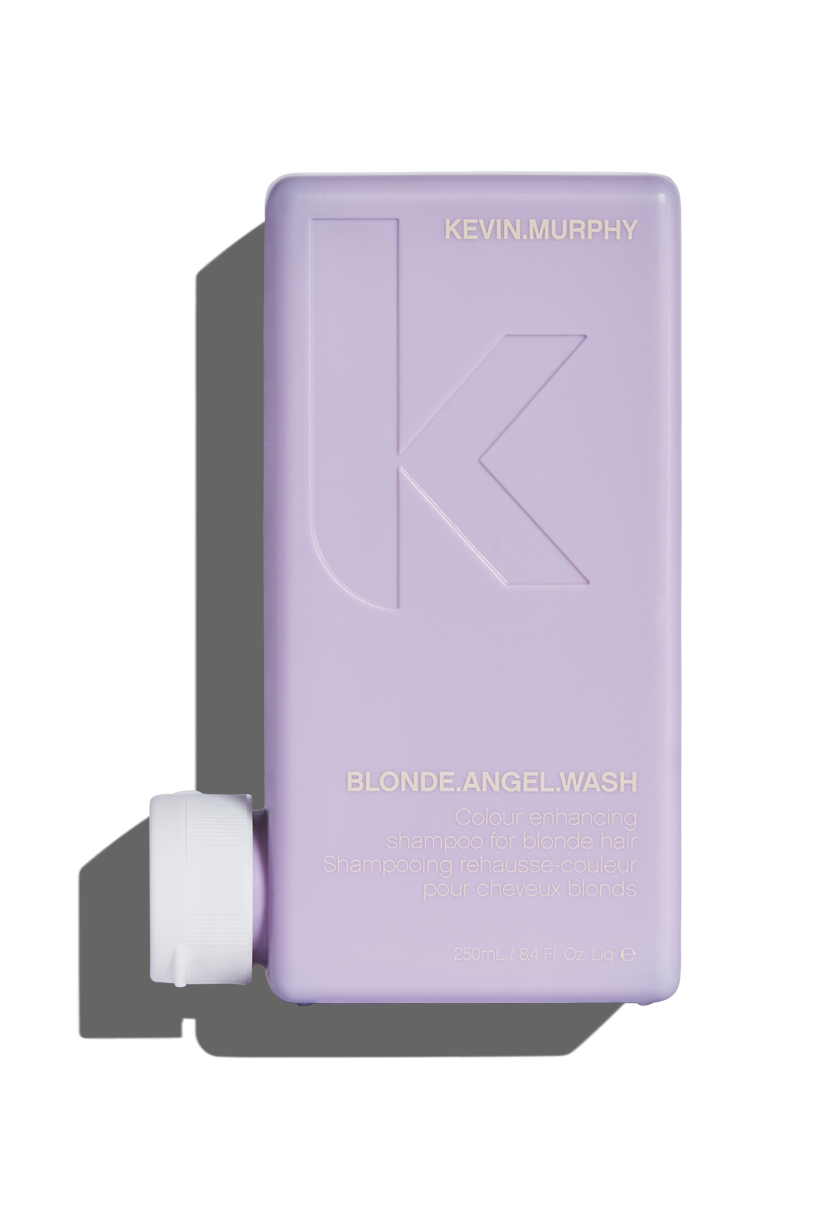 Make every moment a bombshell moment, and banish brassy tones with  BLONDE.ANGEL.WASH . Our Lavender-infused, colour enhancing shampoo takes on all tones – from creamy to platinum, and with the help of added optical brighteners rescues dull colour – taking it from drab back to fab.