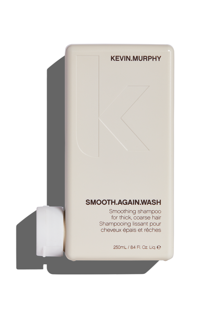 Tame unruly tresses, and fight back against frizz with our targeted smoothing shampoo,  SMOOTH.AGAIN.WASH . This smooth operator will nourish and refine thick, coarse and unruly hair, delivering all-over softness and a stronger, smoother, shinier-looking finish.