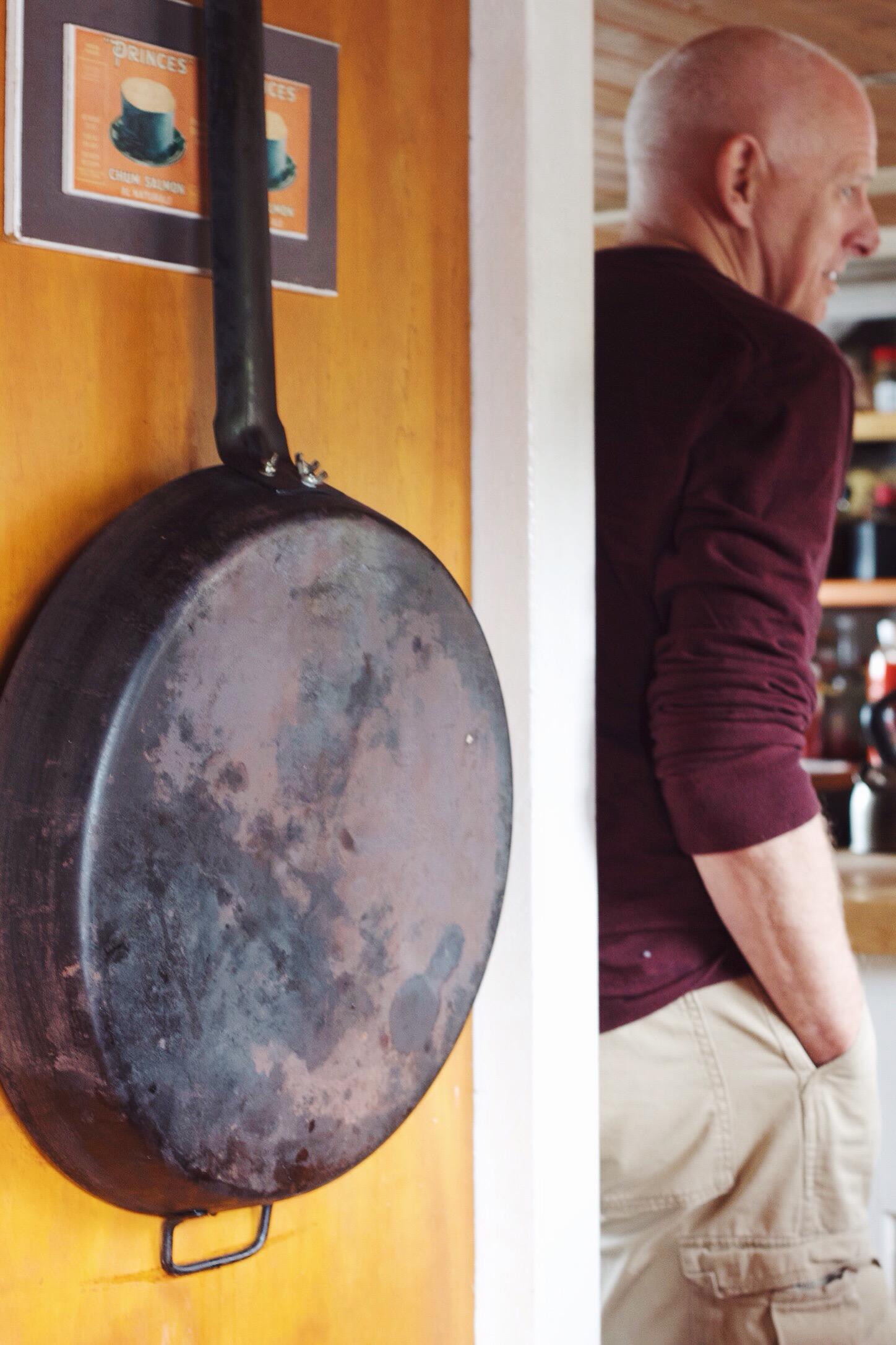 biggest frying pan ever.
