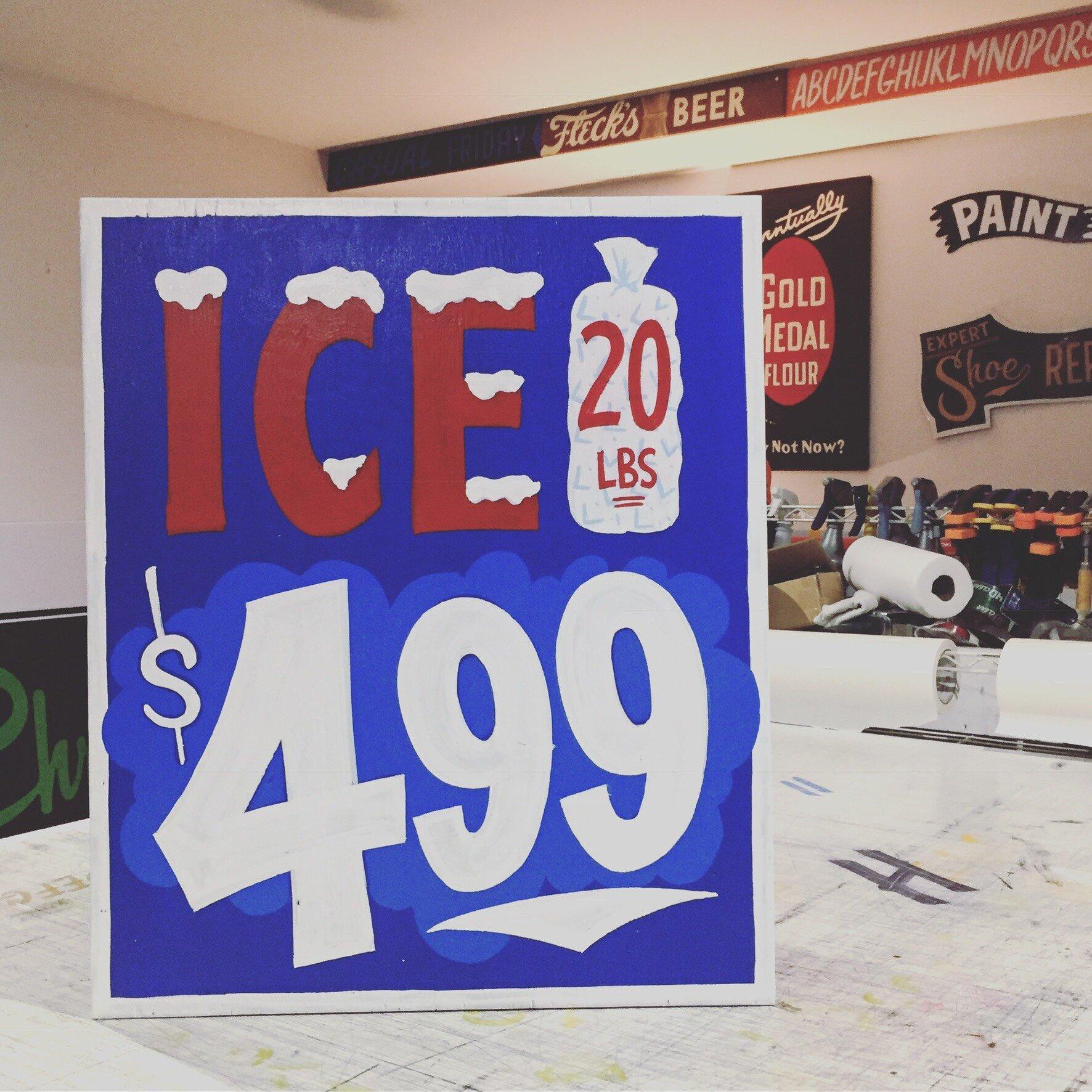 Ice Sale Sign