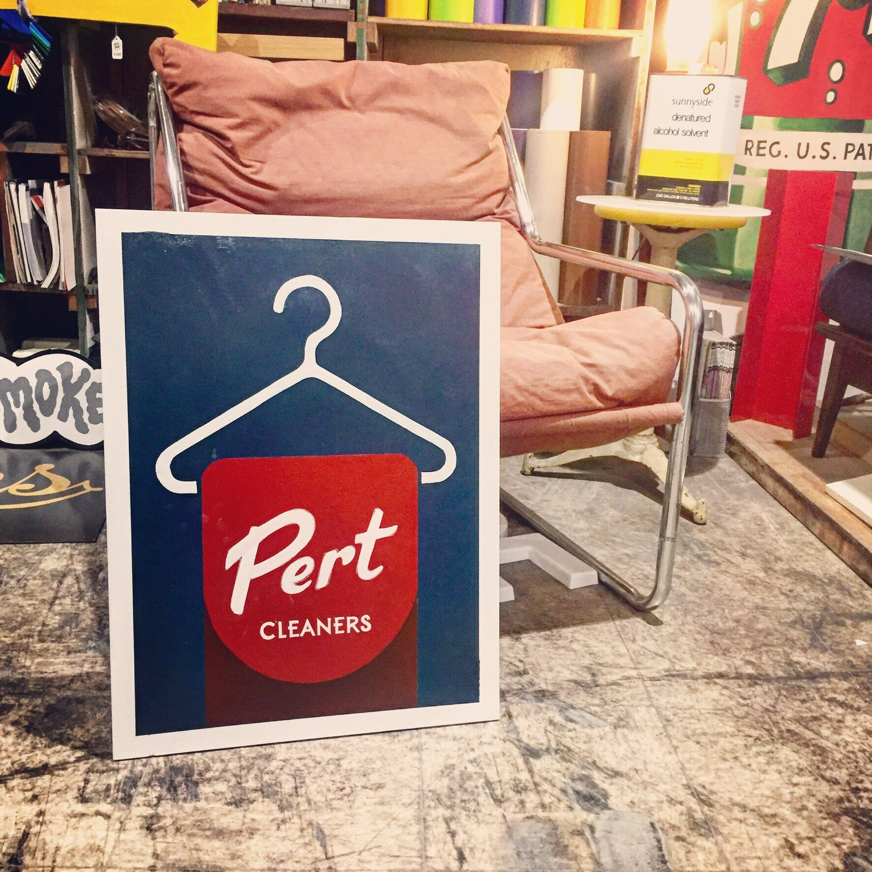 Pert Cleaners Sign
