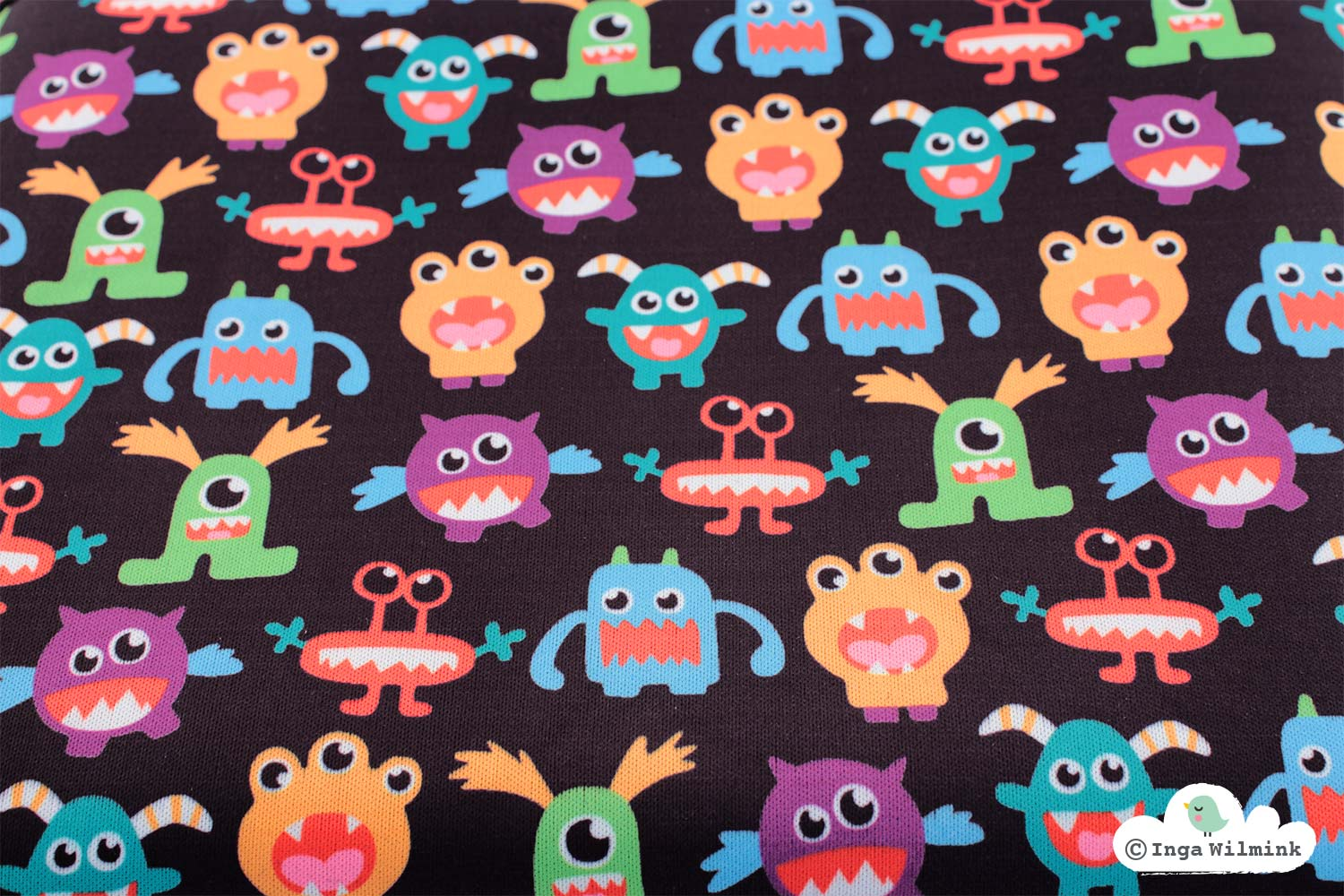 Monster Illustration - Surface Pattern Design by Inga Wilmink