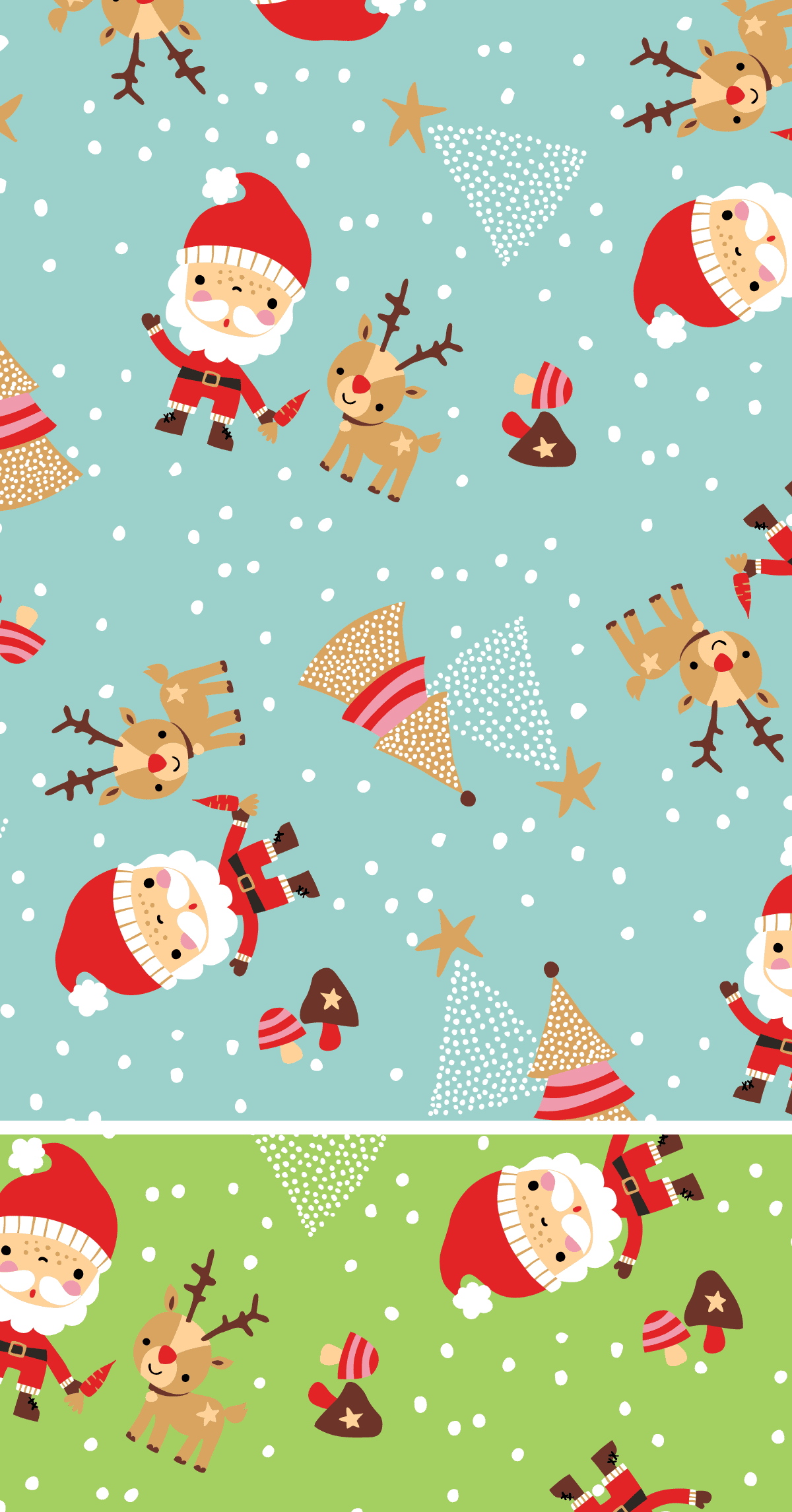 Inga Wilmink for Gluenz Stoffe - Santa fabric