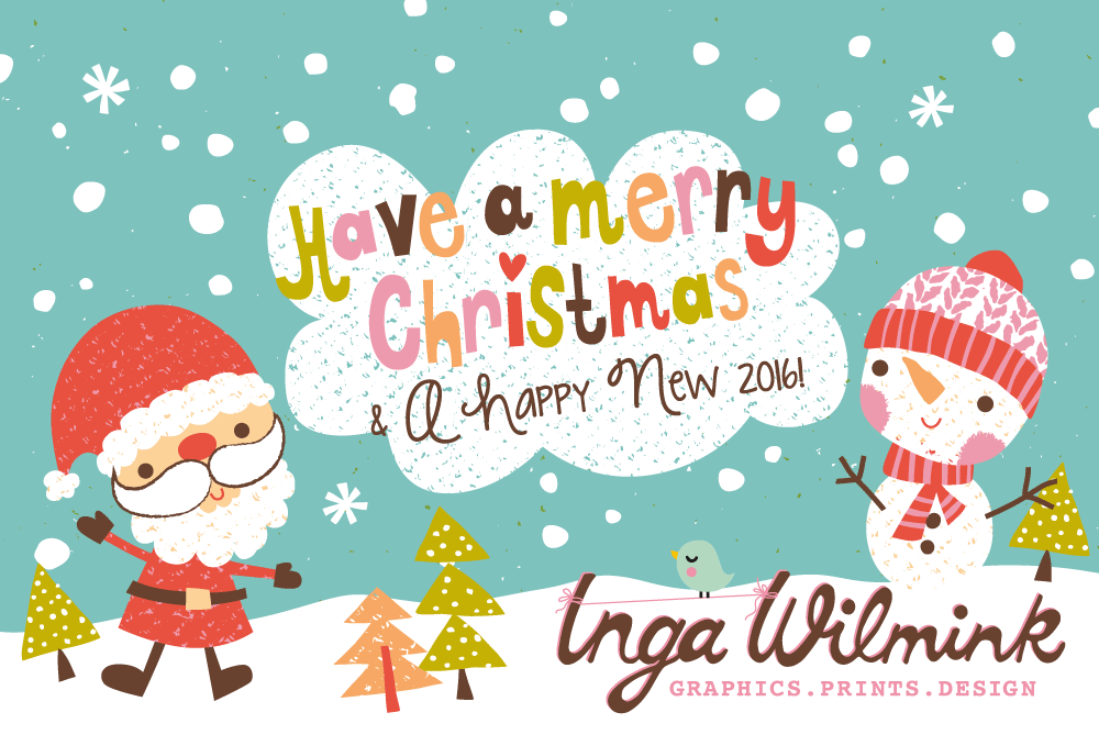 Merry Christmas Wishes from Inga Wilmink Design
