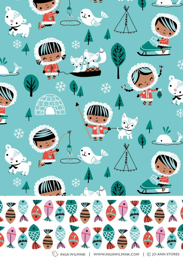 Inga Wilmink for Jo-Ann Stores - Eskimo fabric