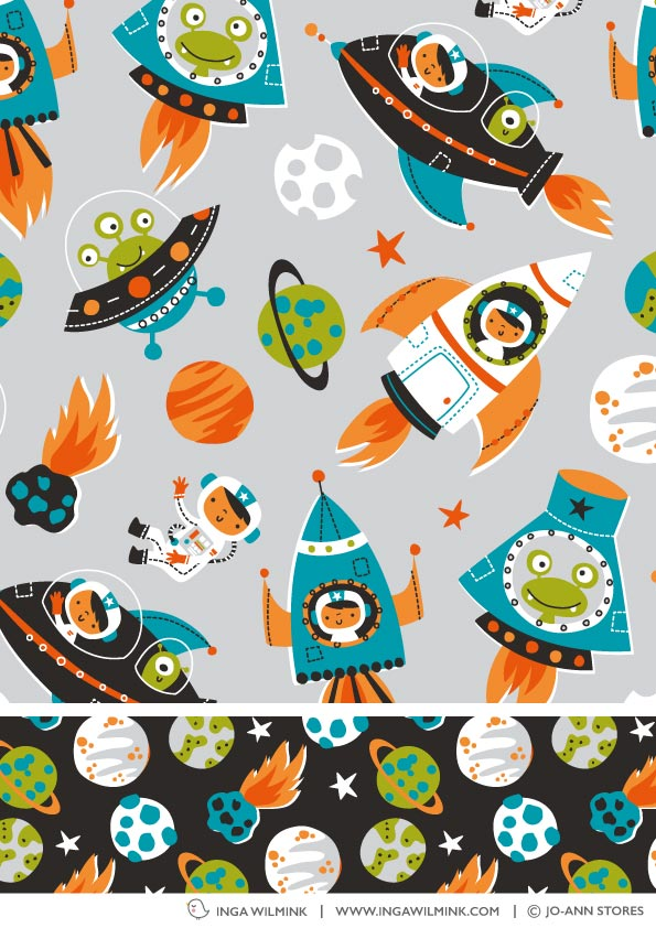 Inga Wilmink for Jo-Anne Stores - Space fabric