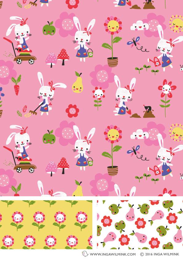 Inga Wilmink - Illustration - Bunny Garden