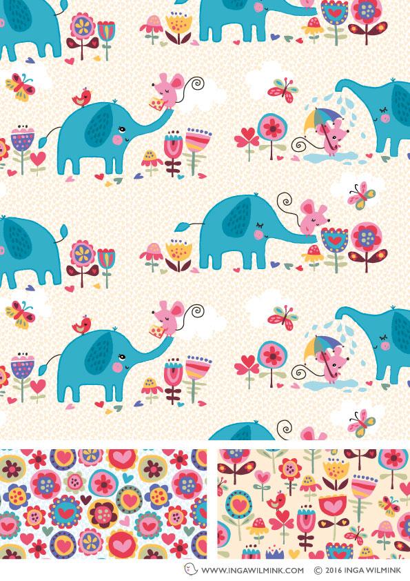 Inga Wilmink - Illustration - Elephant & Mouse