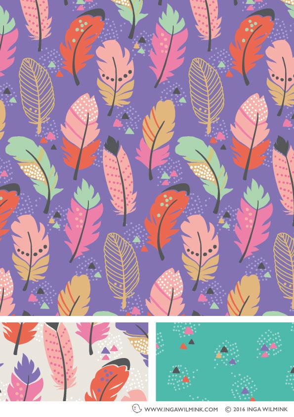 Inga Wilmink - Illustration - Funky Feathers