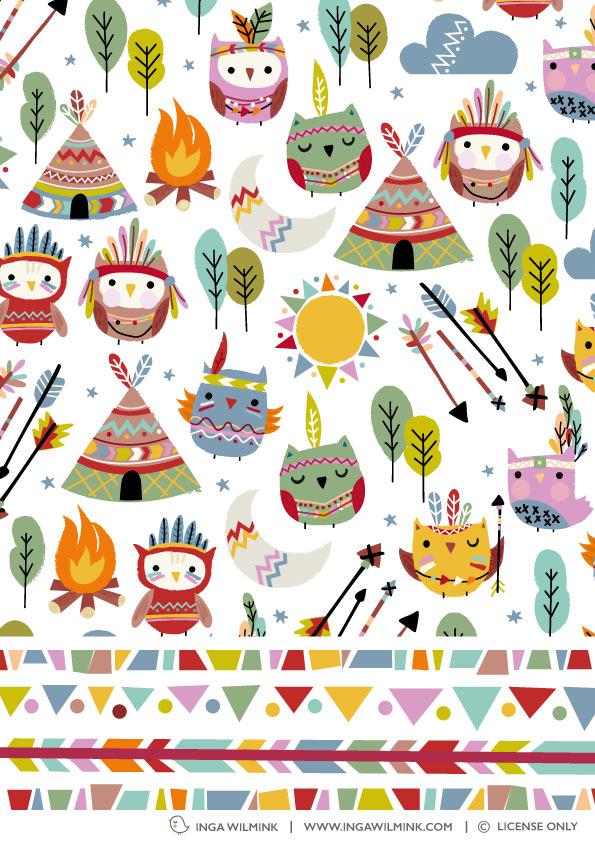 Inga Wilmink - Illustration - Teepee Owls