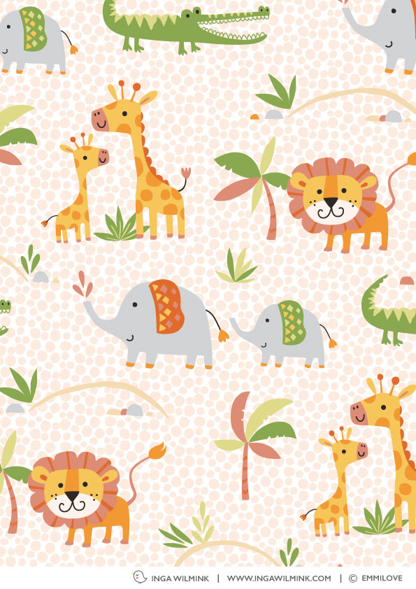 Inga Wilmink for Emmilove - Zoo fabric