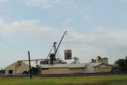 We used a crane to lift the old silos out and later crush them so they could be recycled.