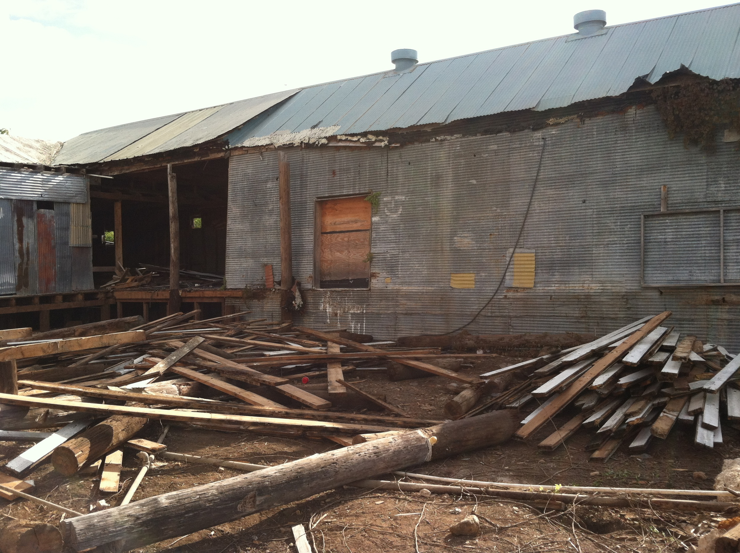 Old wood flooring was salvaged from 306 S Main and taken to  Vintage Mills  to be milled.