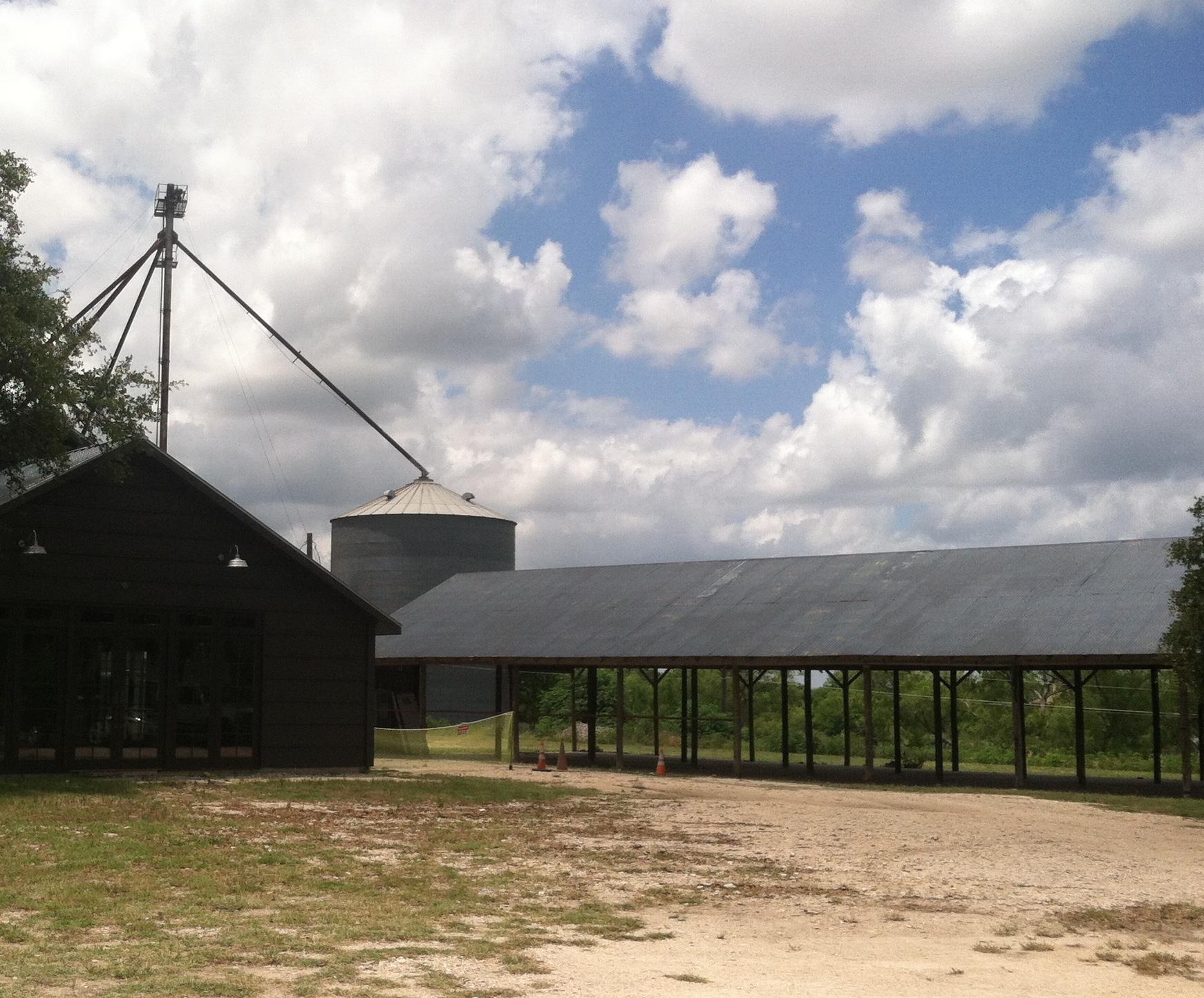 The original pole barn structure