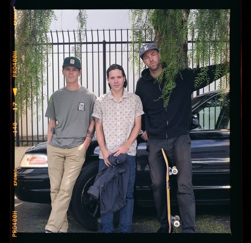 """Geoff Rowley, Kevin """"Spanky"""" Long and Andrew Reynolds,May 2014"""
