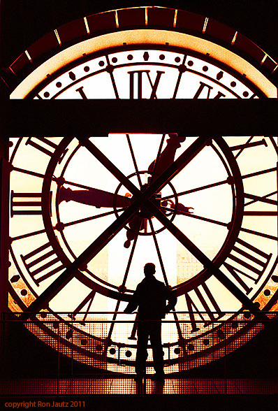 "This shot, at the Musee de O'rsay in Paris, is another example of exercising patience.  This is one of those ""no-brainer"" shots, but no one was around.  I waited for over 15 minutes until this man walked up and looked out the clock window.  Once all the elements come together it doesn't take long to capture a great shot."