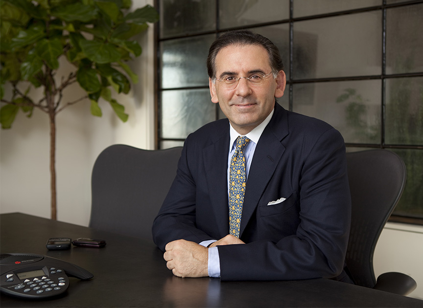 """A good example of a """"Corporate Portrait"""", a Wall Street executive photographed for a marketing brochure."""