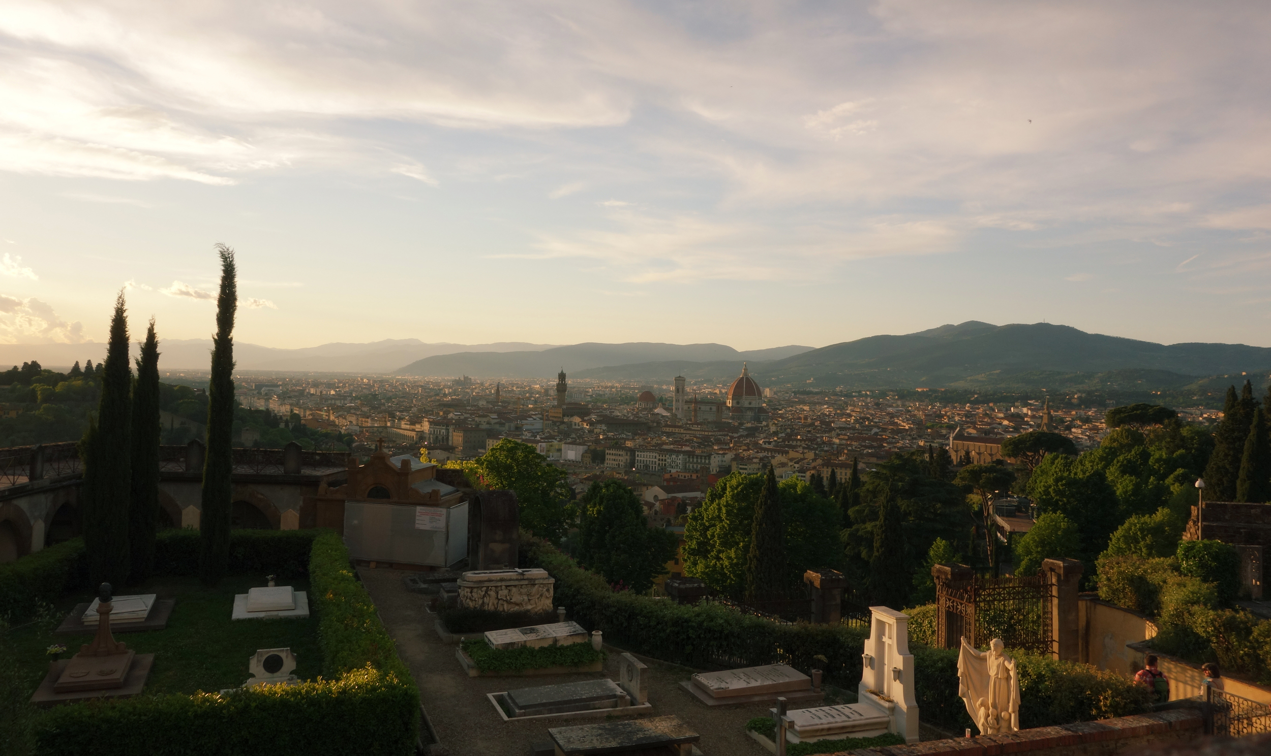 View from the top of Giardini di Boboli (Boboli Gardens) and Piazzale Michelangelo - my favorite places in Florence.