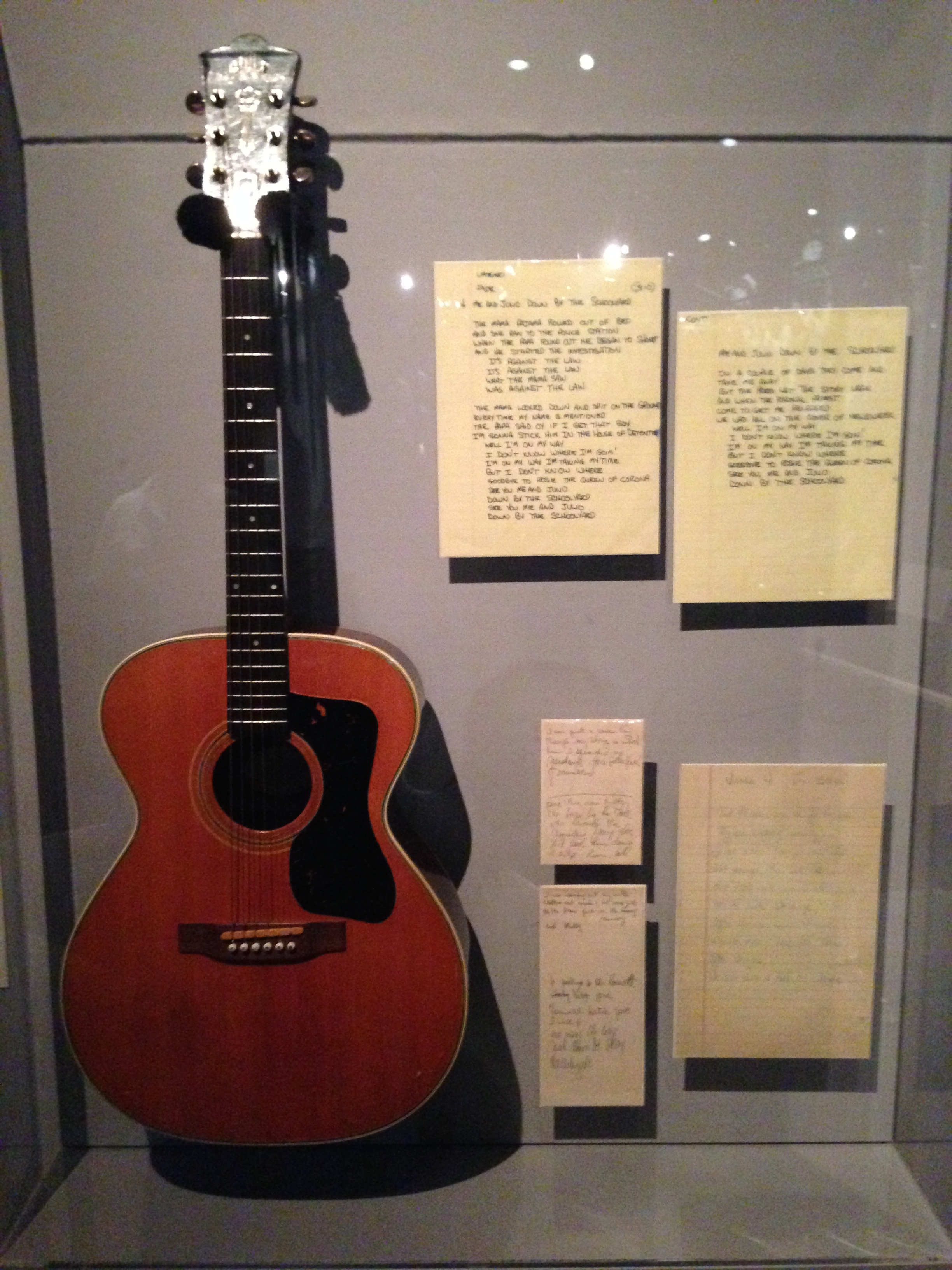 Paul Simon's Guitar and Lyrics