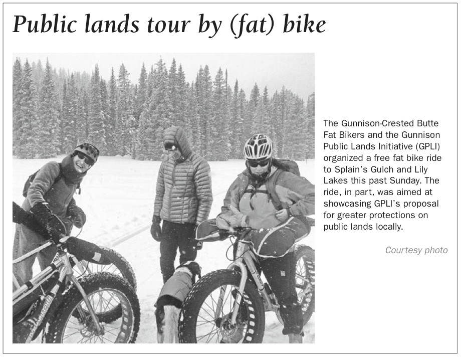 From the Gunnison Times