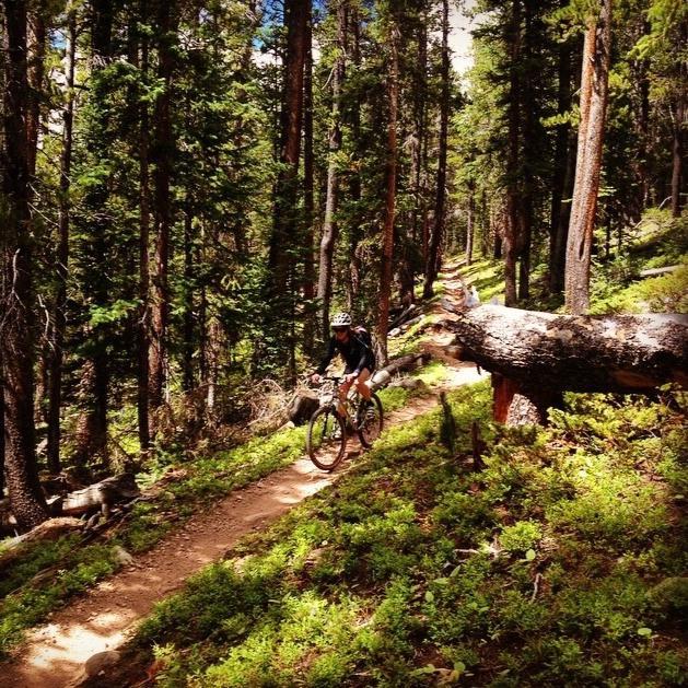 Biking the Teocalli Ridge Trail.Photo Credit: Hedda Peterson