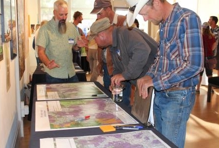 Kevin Alexander - sportsman's representative for Trout Unlimited - talks with the community about the GPLI initial proposal recommendations at the roll out event June 20th, 2017 at the Gunnison Arts Center.   Photo Credit:  Alan   Wartes  - The Gunnison Country Times.