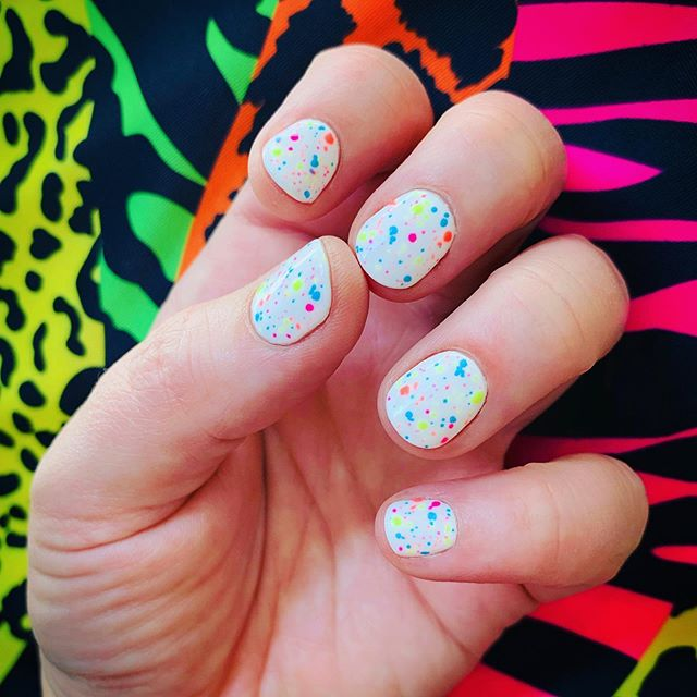 My neon splatter nails! Thanks, @hannah.k.nails! (I couldn't decide which pic to upload!)