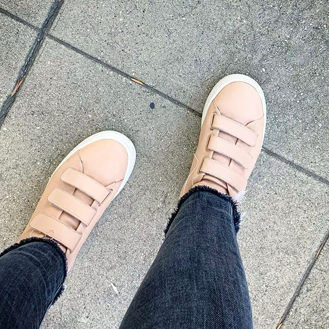 I'm really into velcro sneakers lately.