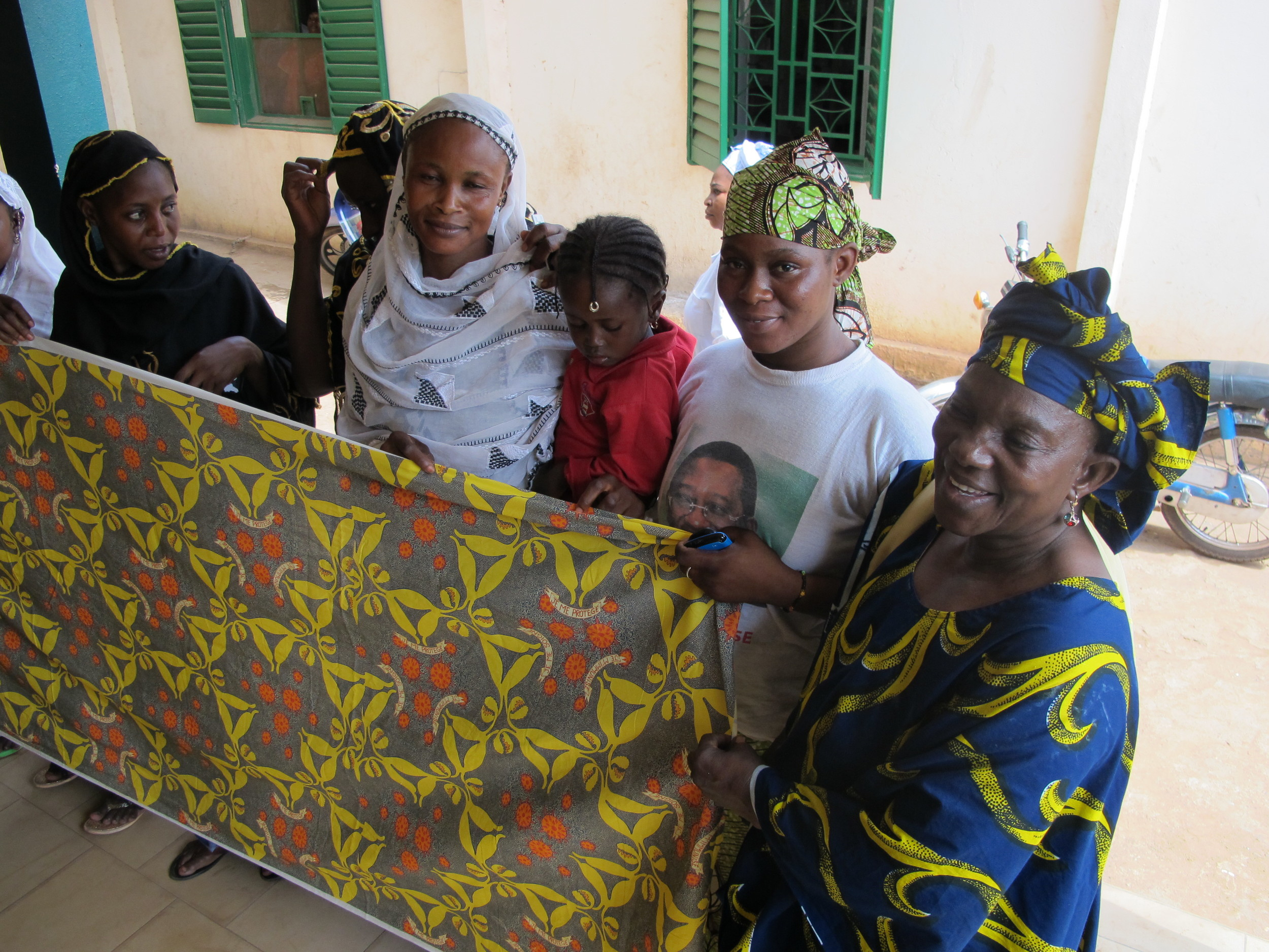 The women at our Hope Center Clinic voiced their opinions on the pattern, and helped us with the design process.