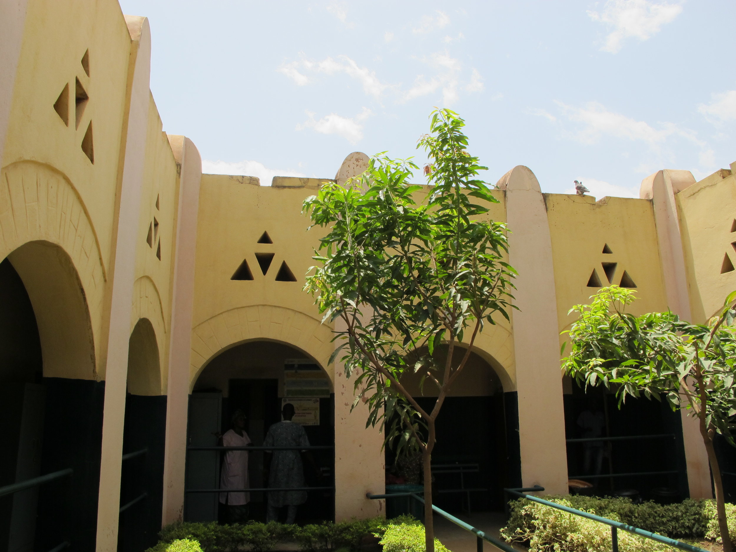 Courtyard at the Banconi clinic