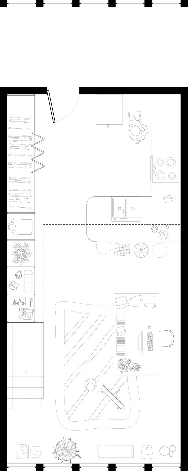 LIVE/WORK — One Bedroom — First floor work space