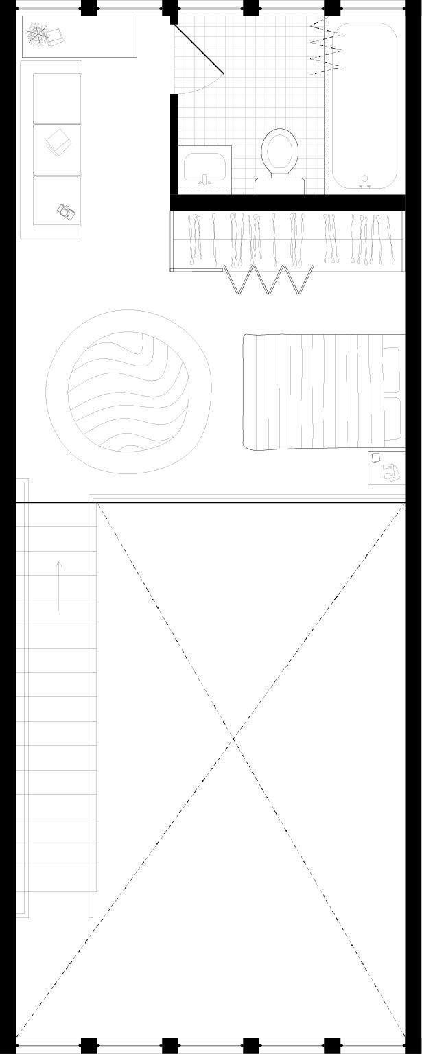 LIVE/WORK — One Bedroom — Second floor bedroom