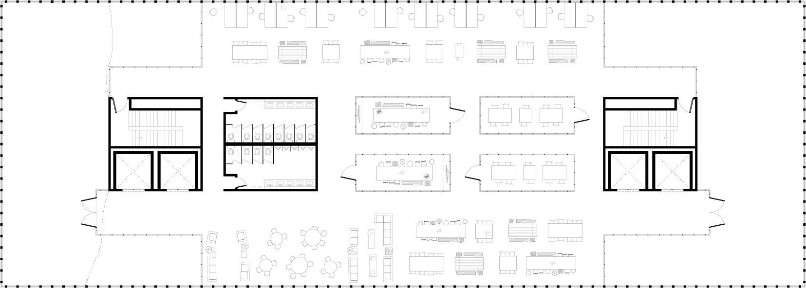 FLOOR 4 — Communal Work Space