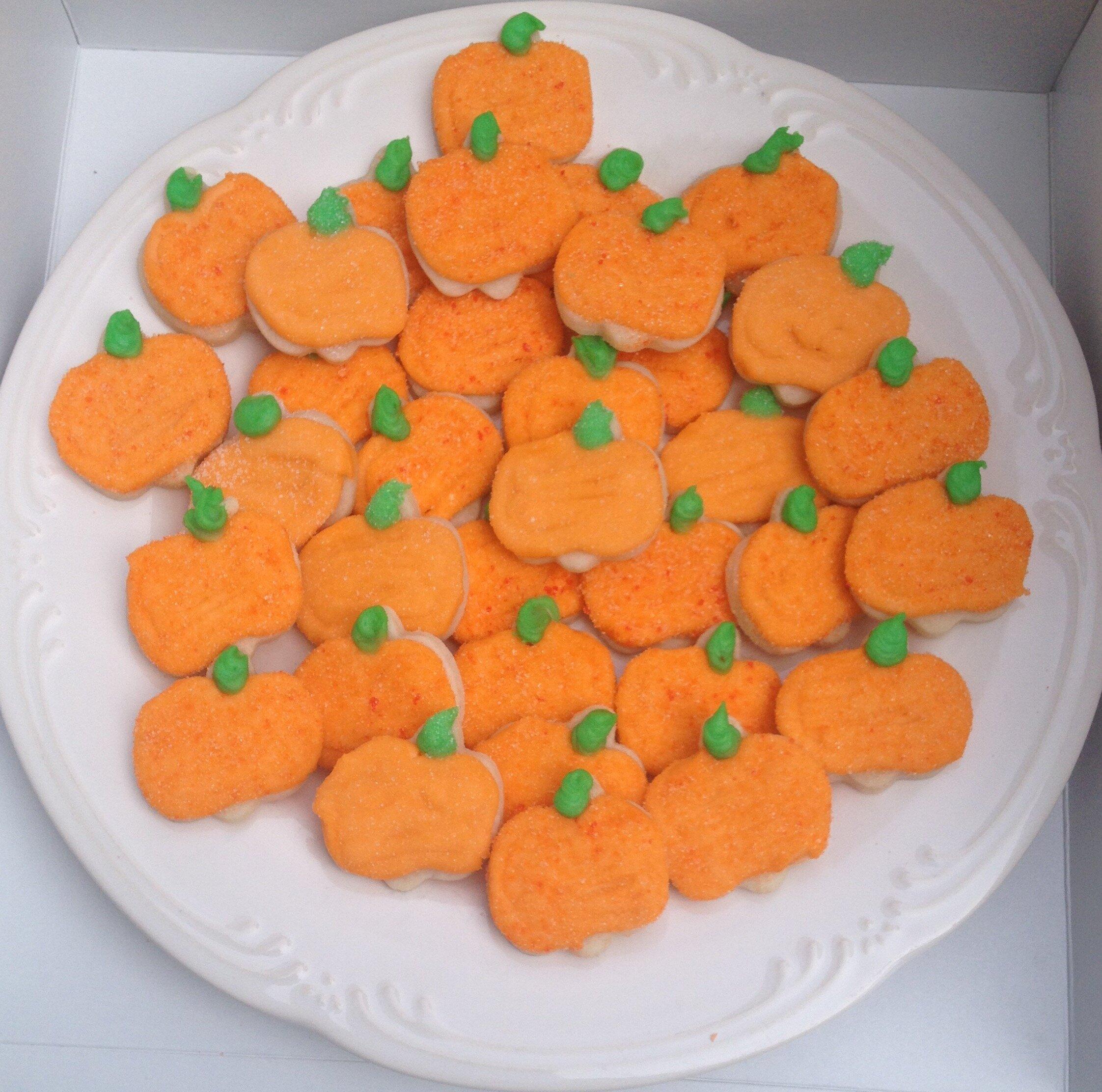 Mini Pumpkin Cookies -