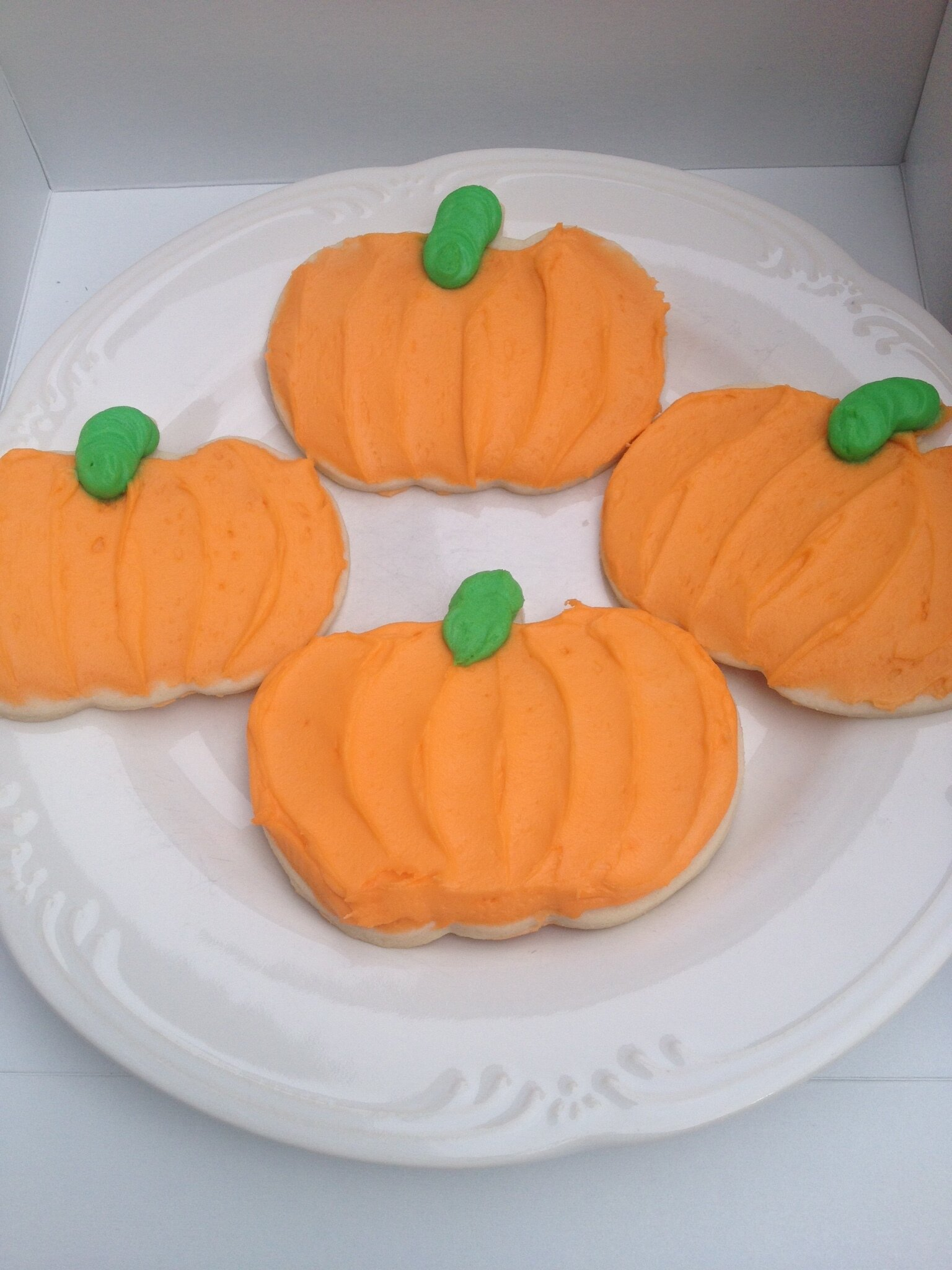 Large Pumpkin Cookies -