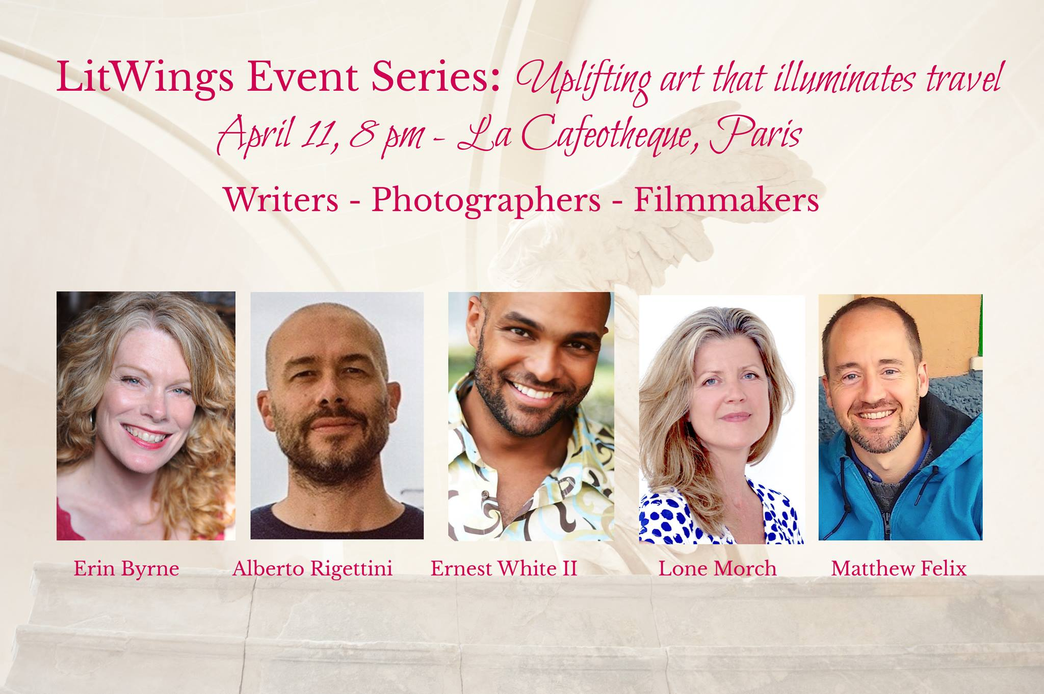 Presenting at the LitWings Salon in Paris April 2019
