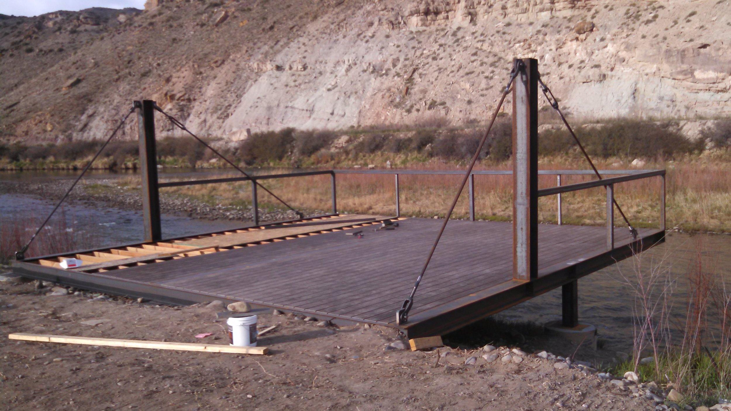 Gunnison River Deck under Construction