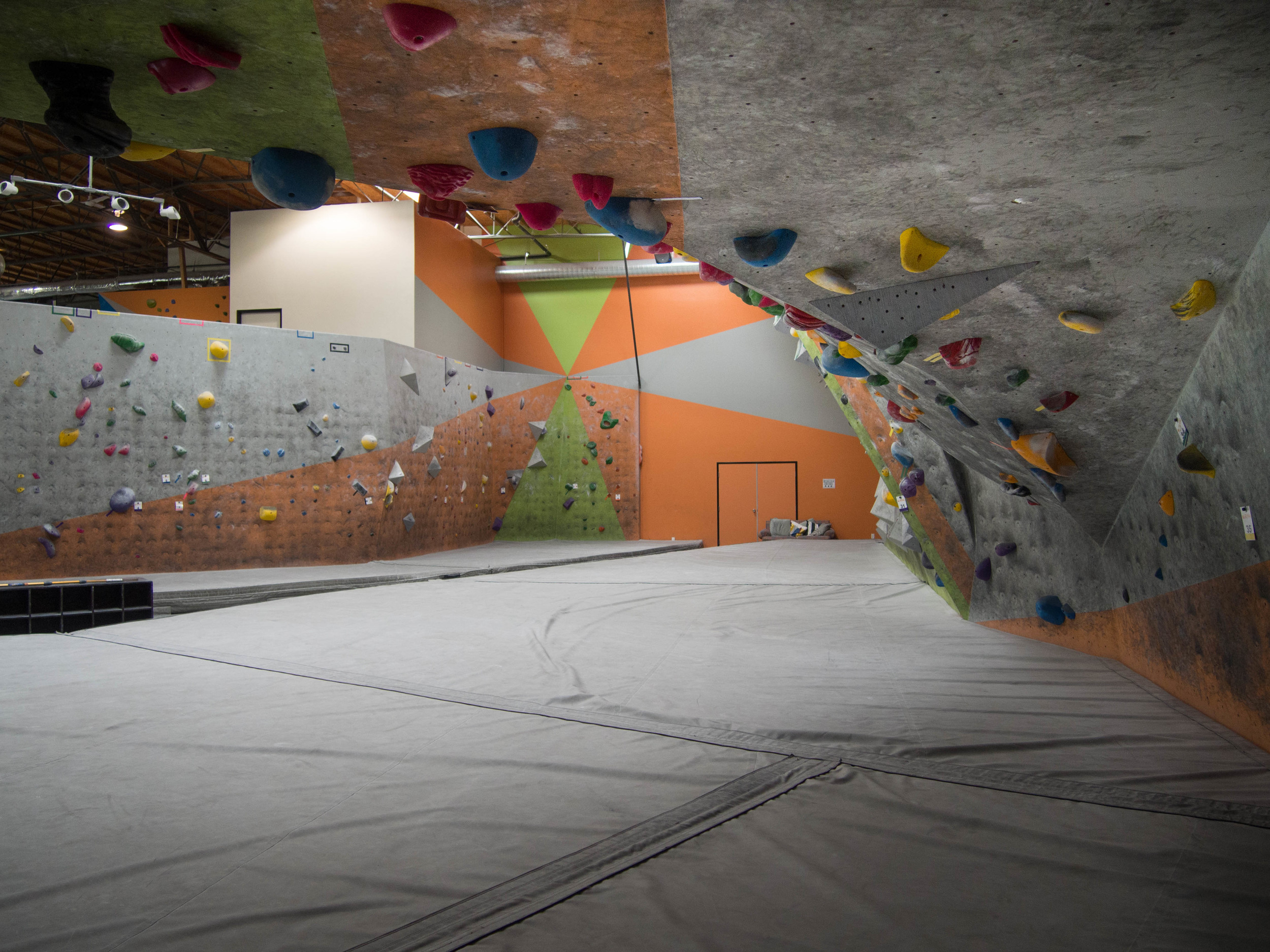 Bouldering in The Wall Climbing Gym