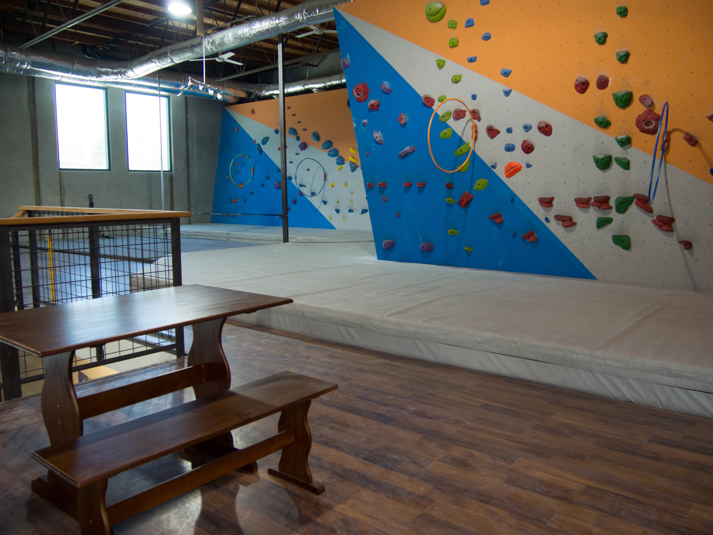 Bouldering Instructional area