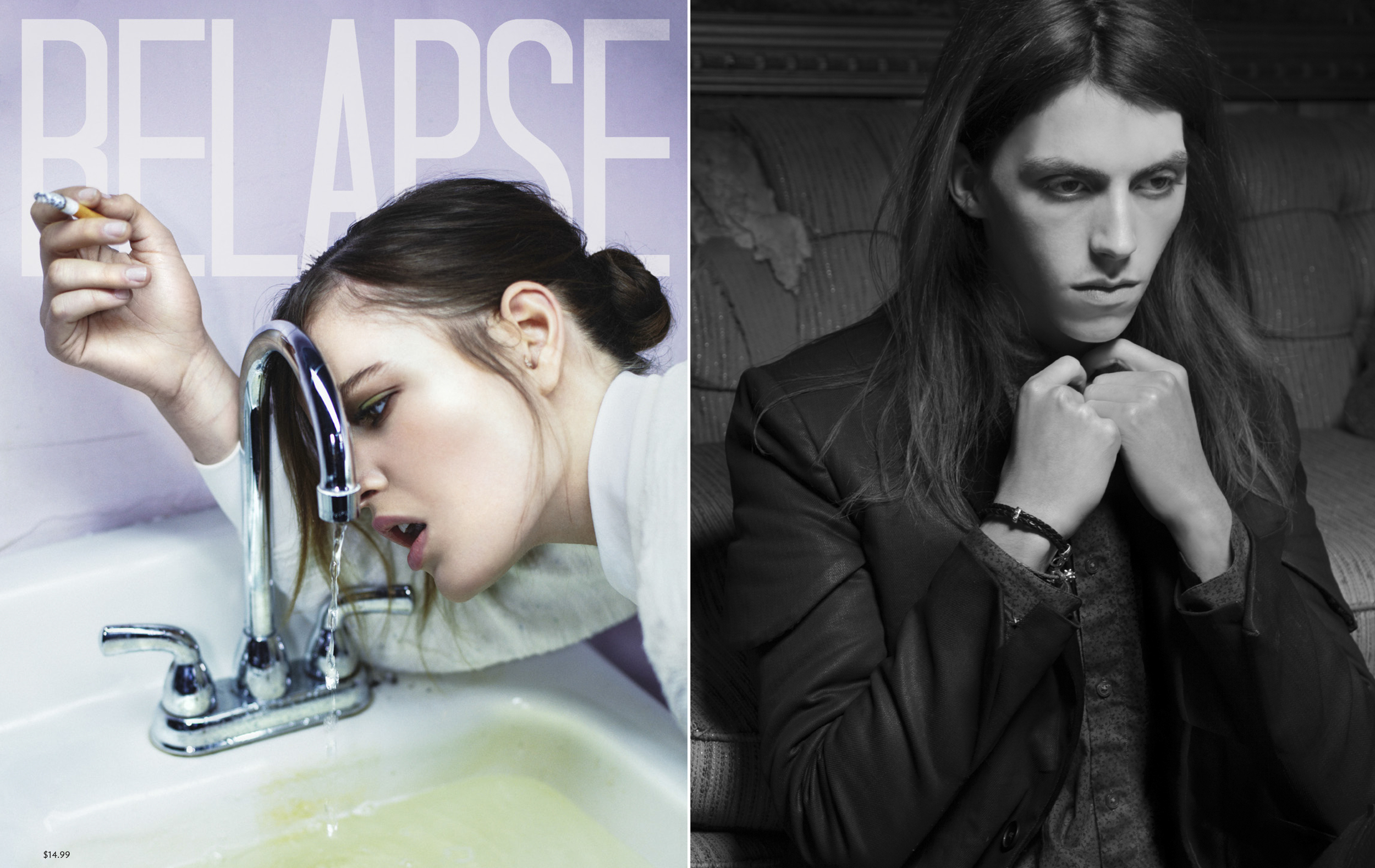 Editorial for Relapse Magazine  - Hand waxed black denim jacket from our Black Gold Collection