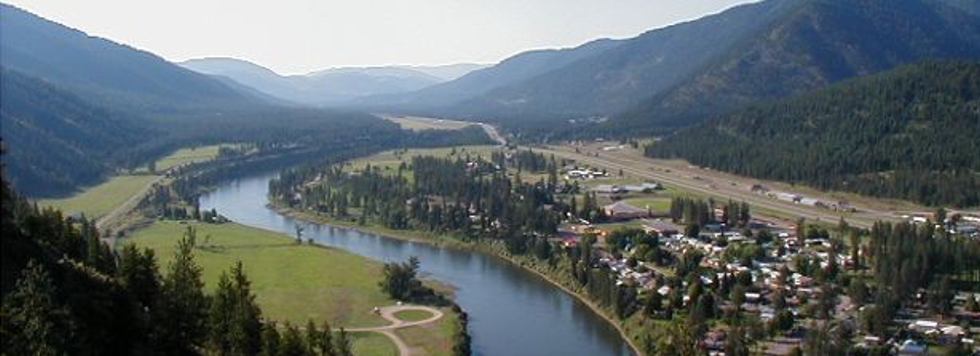 Superior, Montana; a bird's eye view from the Vista Trail!