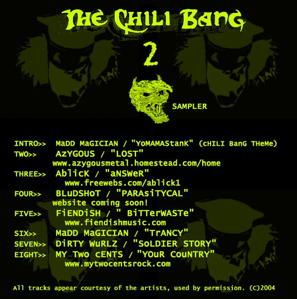 """THE CHILI BANG 2: SAMPLER,"" COMPILATION CD (2004)"