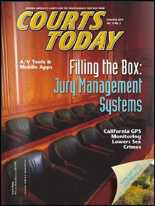 Cover of June/July 2014 Issue of Courts Today