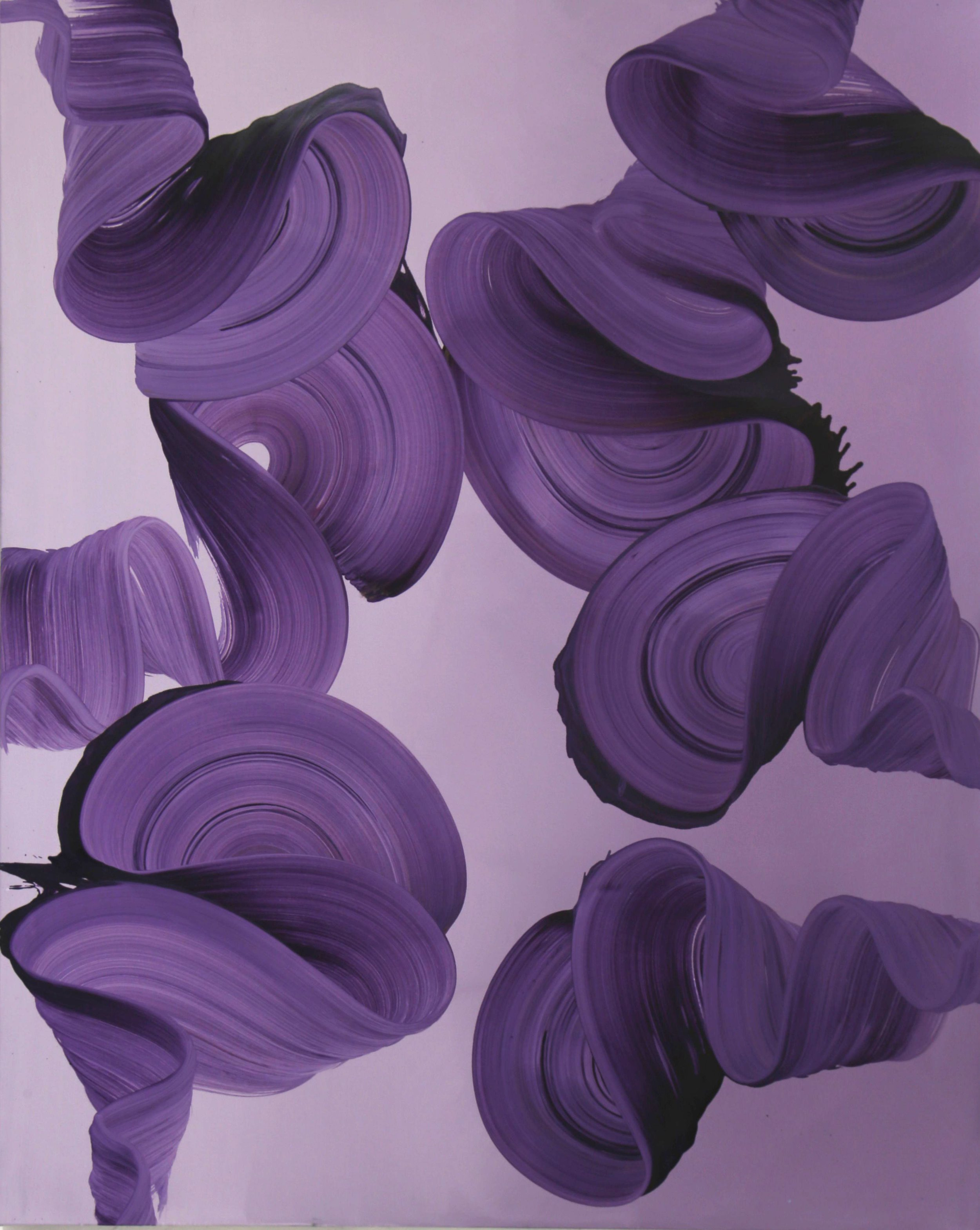 Purple Swirls  60 x 48 in