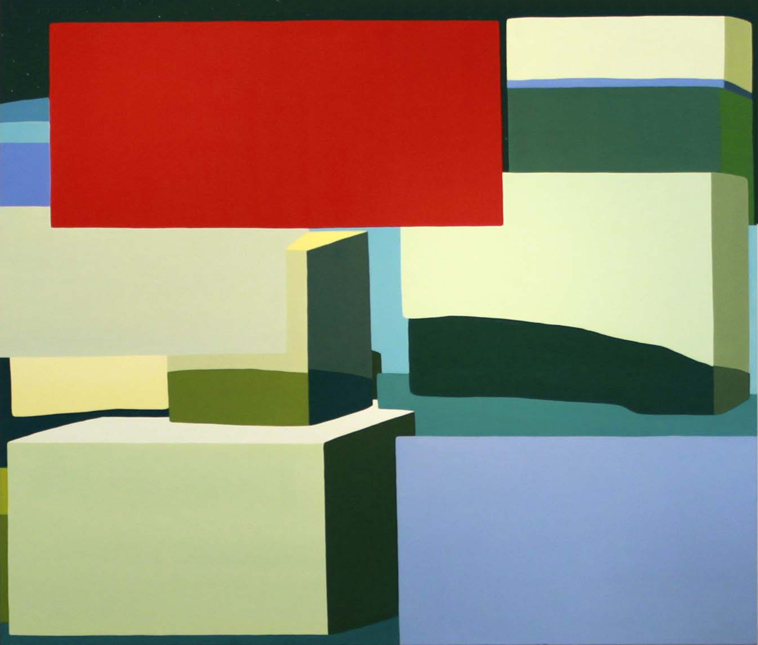 HedgeLand Painting #19  oil on canvas 57 x 67 inches; 114.8 x 170.2 centimeters