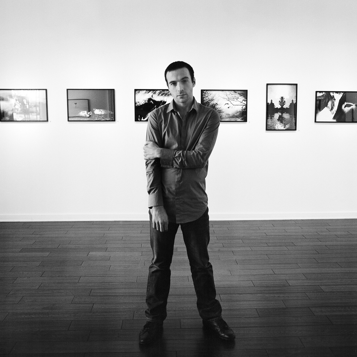Jean-François Spricigo at his opening, January 2010. Photograph by Don Weintstein.