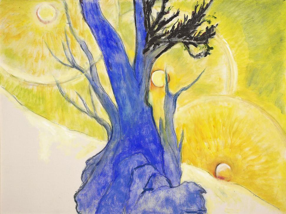 Bristlecone Pine, 1983,oil on canvas,36 x 48 inches; 91.4 x 121.9 centimeters