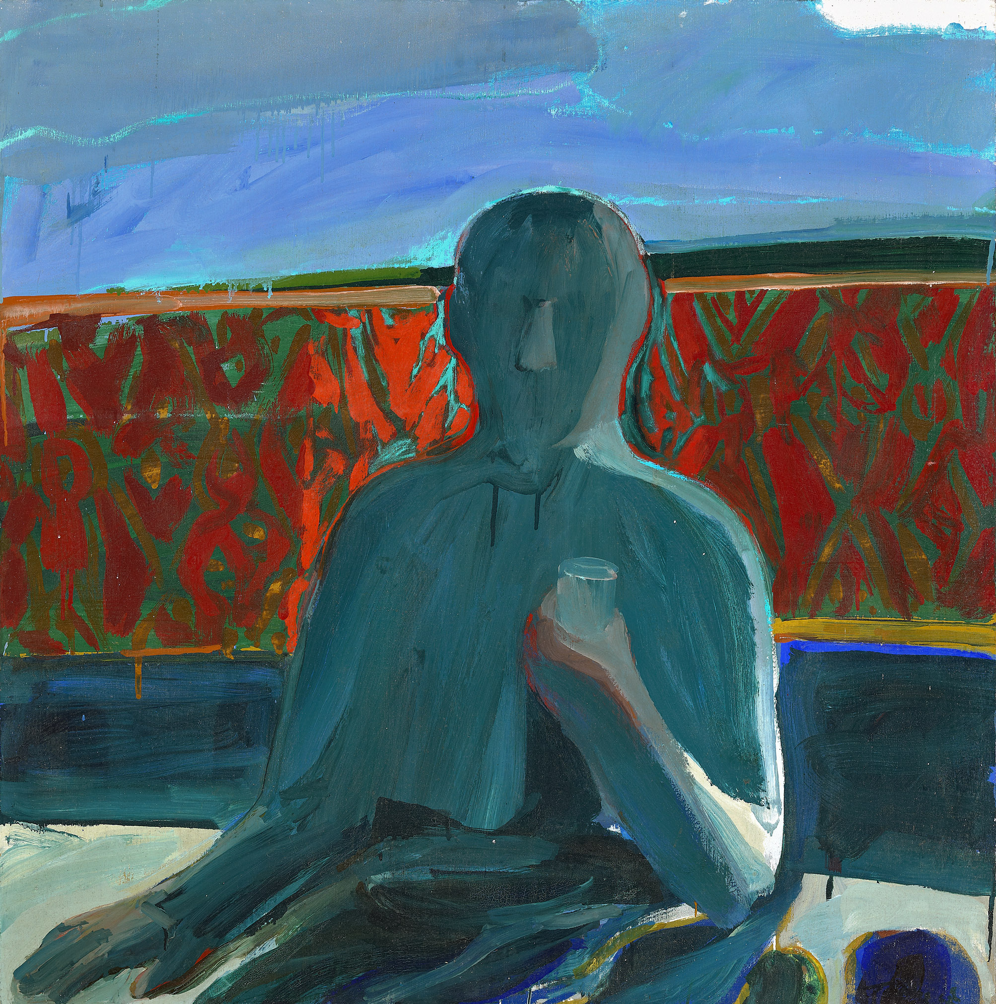 Untitled (Man in the Room Series) , 1962, oil on canvas, 40 x 40 inches; 101.6 x 101.6 centimeters