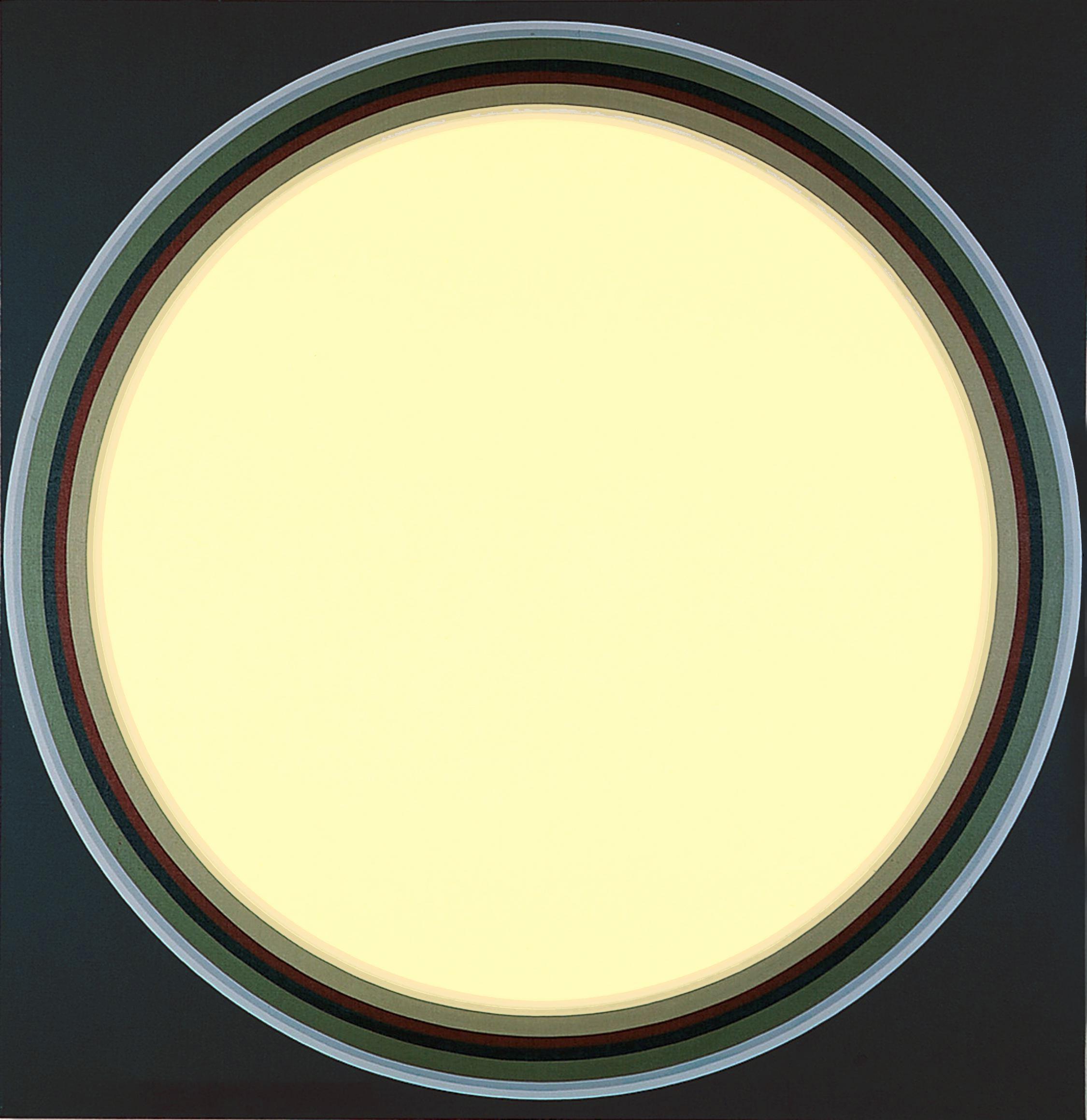 John Stephan: Disk #10, 1971, acrylic on linen, 70 x 68 inches